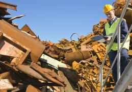 What do metal scrap yards do with the metal